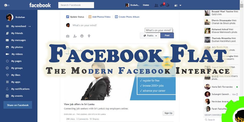 Facebook Flat – The Modern Facebook Interface