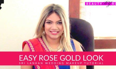 Sri Lankan Wedding Makeup Tutorial - Easy Rose Gold Look