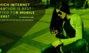Which internet solution is best fitted for mobile users? :Wi-Fi or cellular data networks?