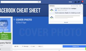 TechWyse's  Facebook Image Sizes and Dimensions Cheat Sheet