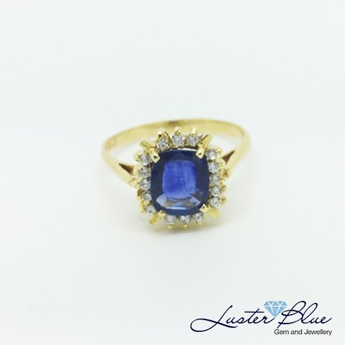 Blue Sapphire Gold Ring Luster Blue