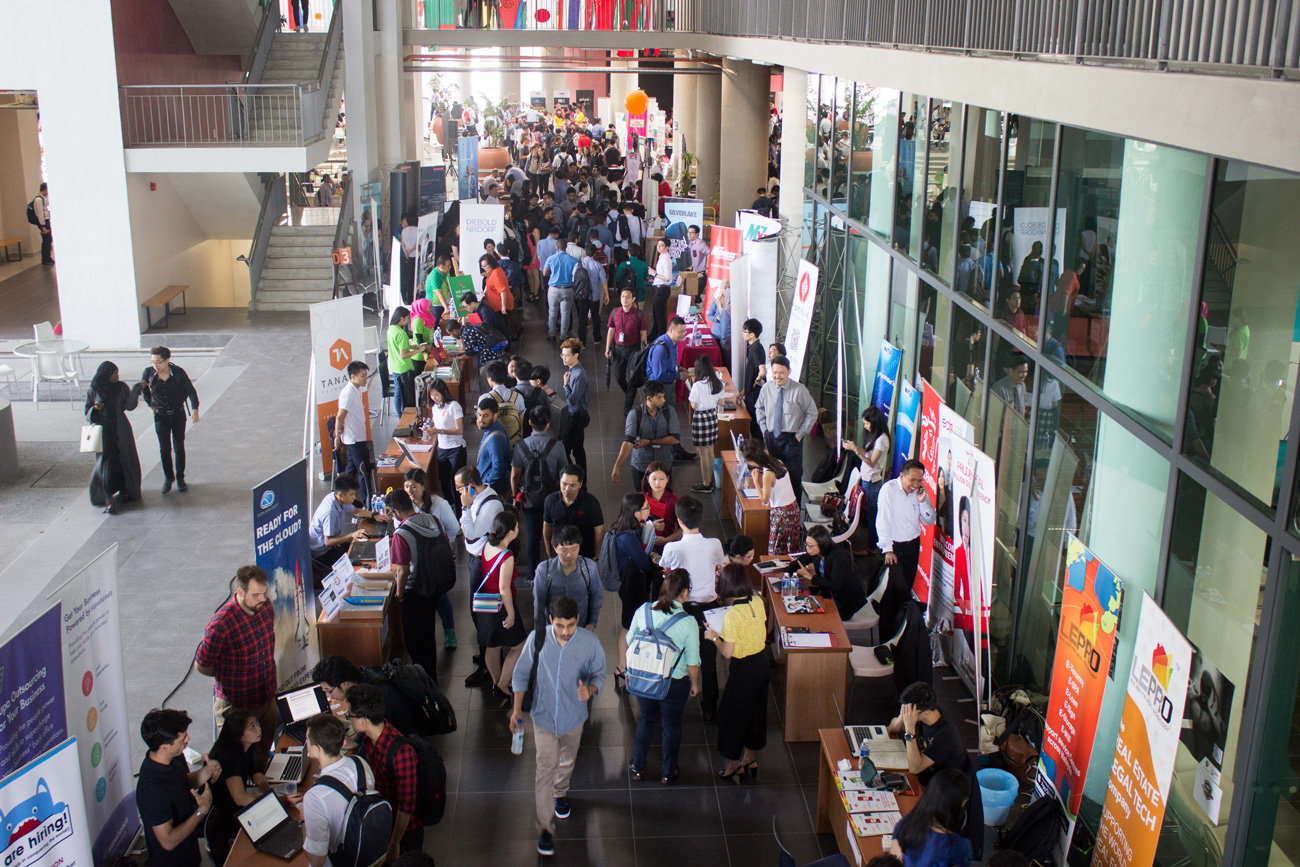 Over 80 companies and 2,500 students took part in the APU Mega Career Fair 2017