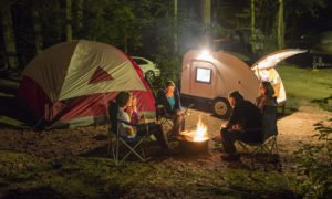 Camping night in the jungle