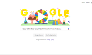 happy 19th birthday google! best wishes from team nerdynaut