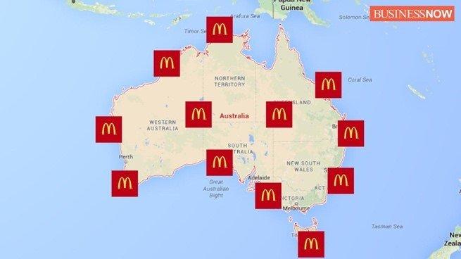 Outlet Distribution across Australia