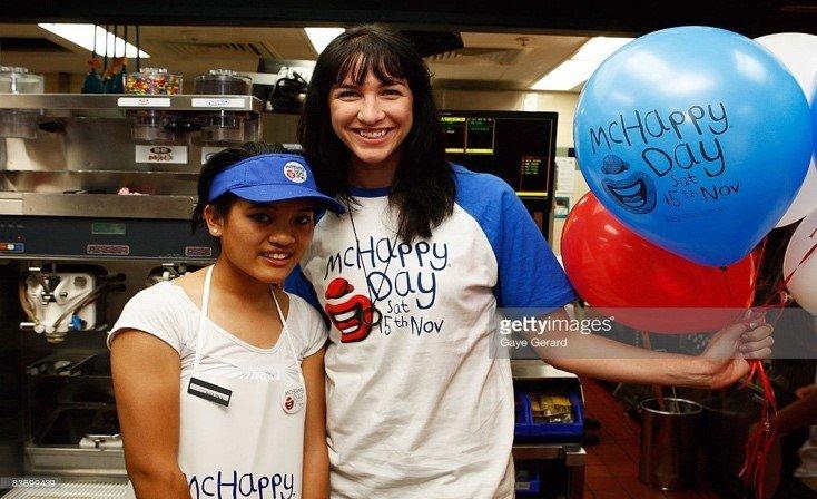 Elka Whalan promoting McDonalds