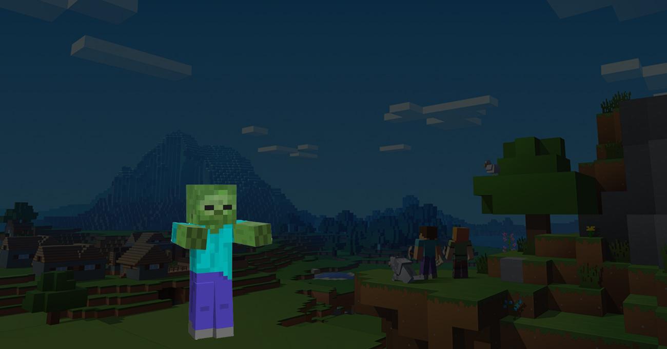 Mine-craft zombie