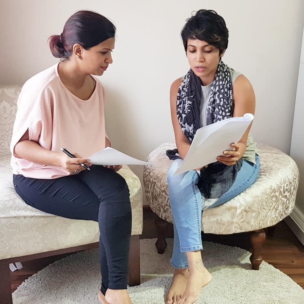 Miuru with a client (Mozzigear Sri Lanka)