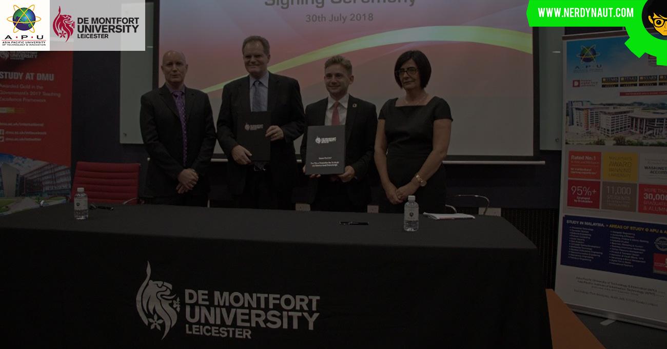 APU Students with De Montfort University