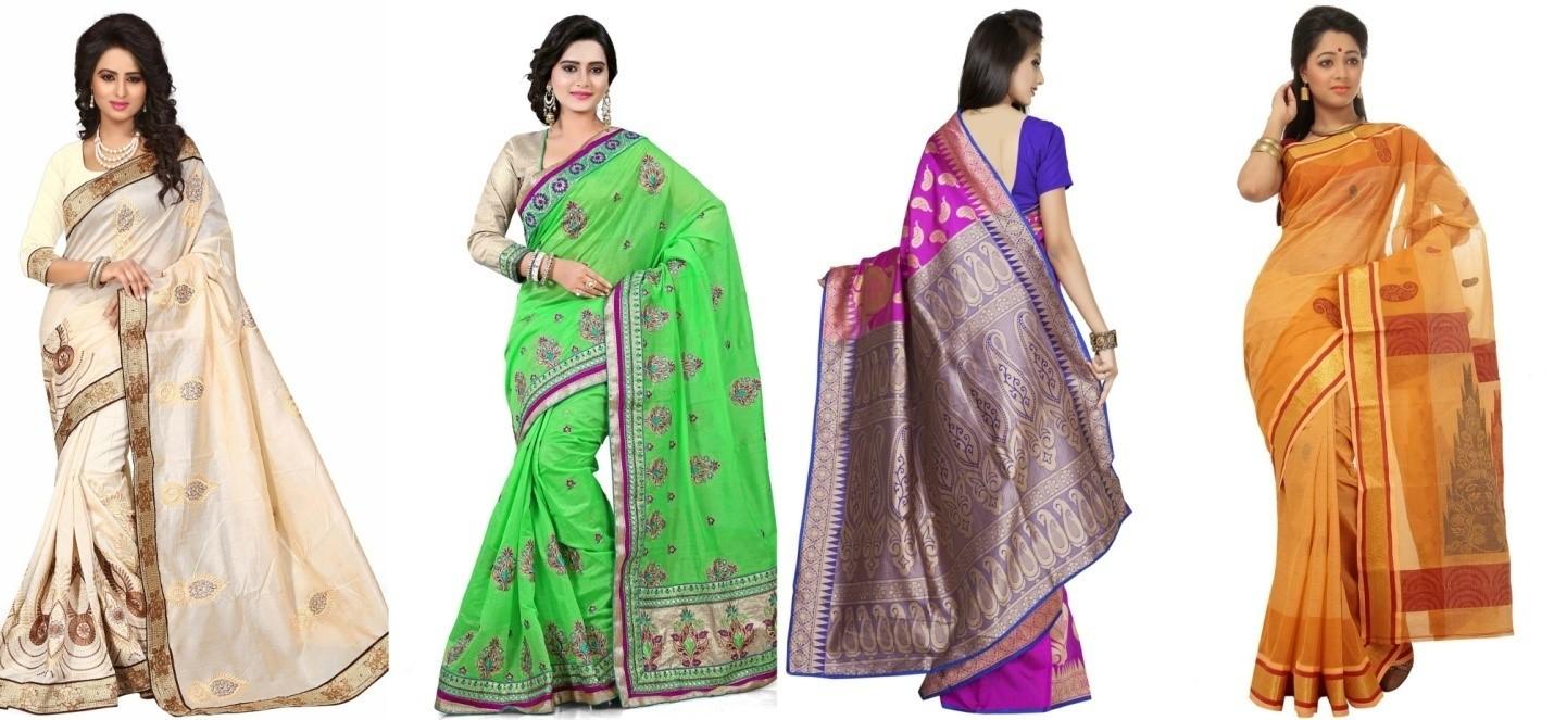 Saree styles by women
