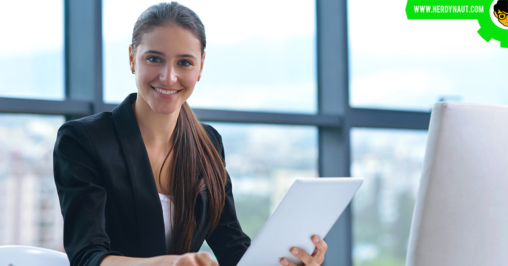 woman with a Career in Office Management