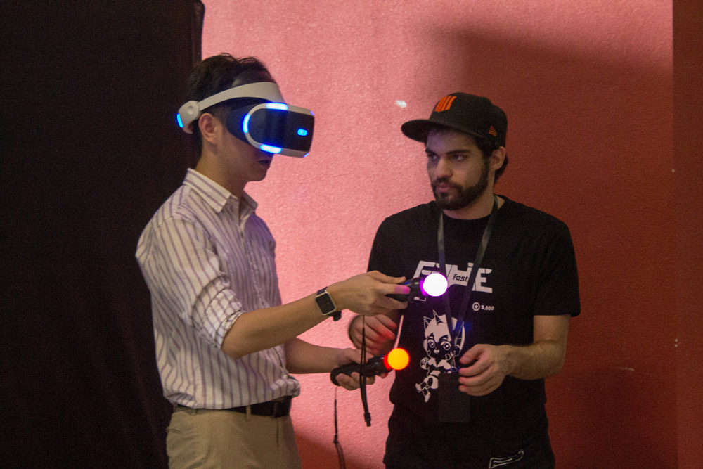 Virtual Reality (VR) gaming at the MADFest x GameFest