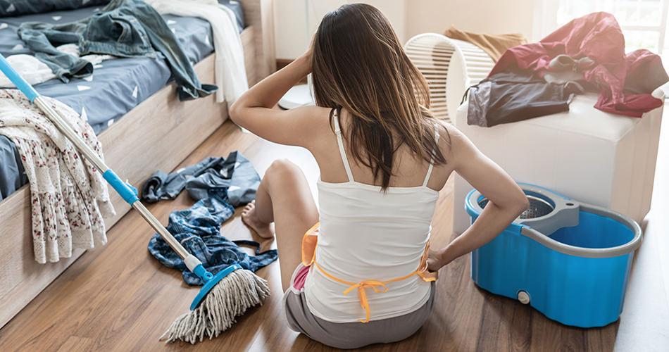 Woman Declutter Home