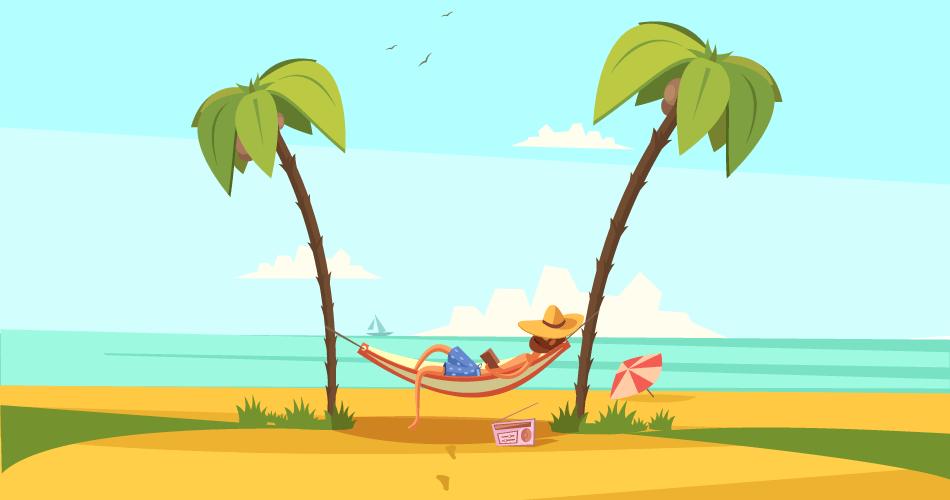 hammock on beach