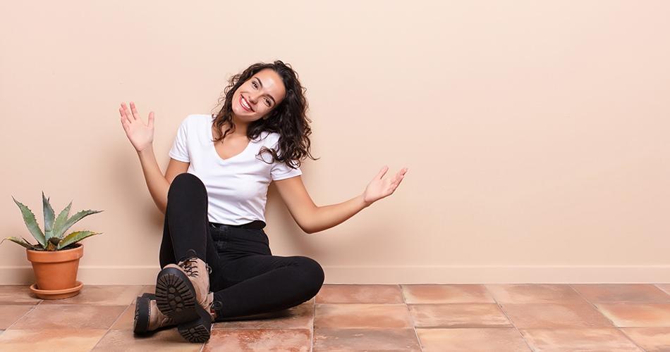 stress-less girl at home