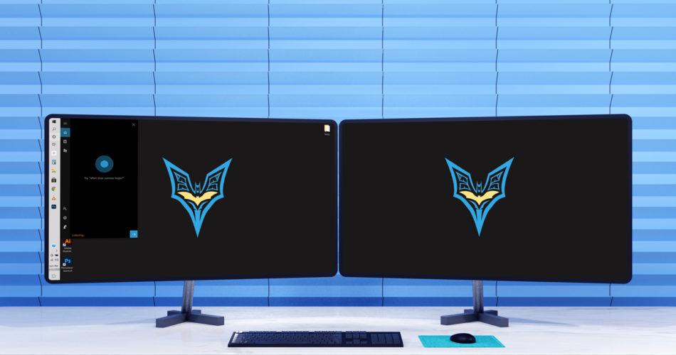 Dual monitor setup at office